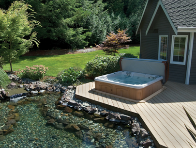 what our hot tubs look like in the sun